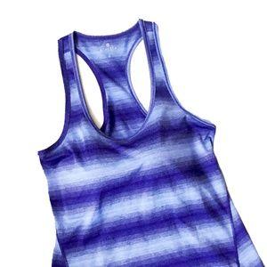 NWT Athleta Stripe Dark Blue Workout Tank Top Sz S